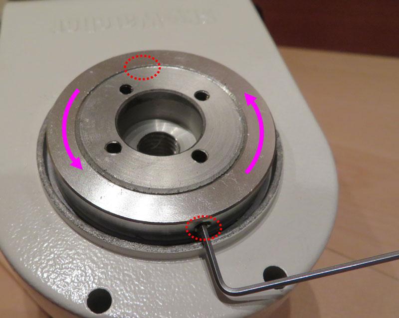 AZ-GTi赤緯軸(高度軸)の回転かたさ調整