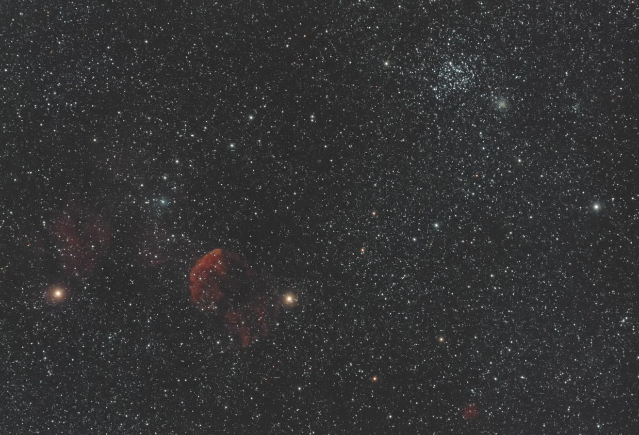 散開星団 M35&くらげ星雲