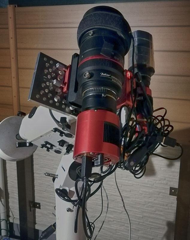 Askar ACL200 + ASIAIR PRO + 3cmガイド鏡をSE2赤道儀に搭載