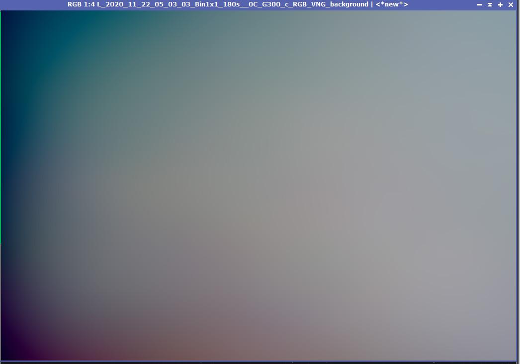 Void画像の光害成分をそのままにして、DBEで作成した背景モデル