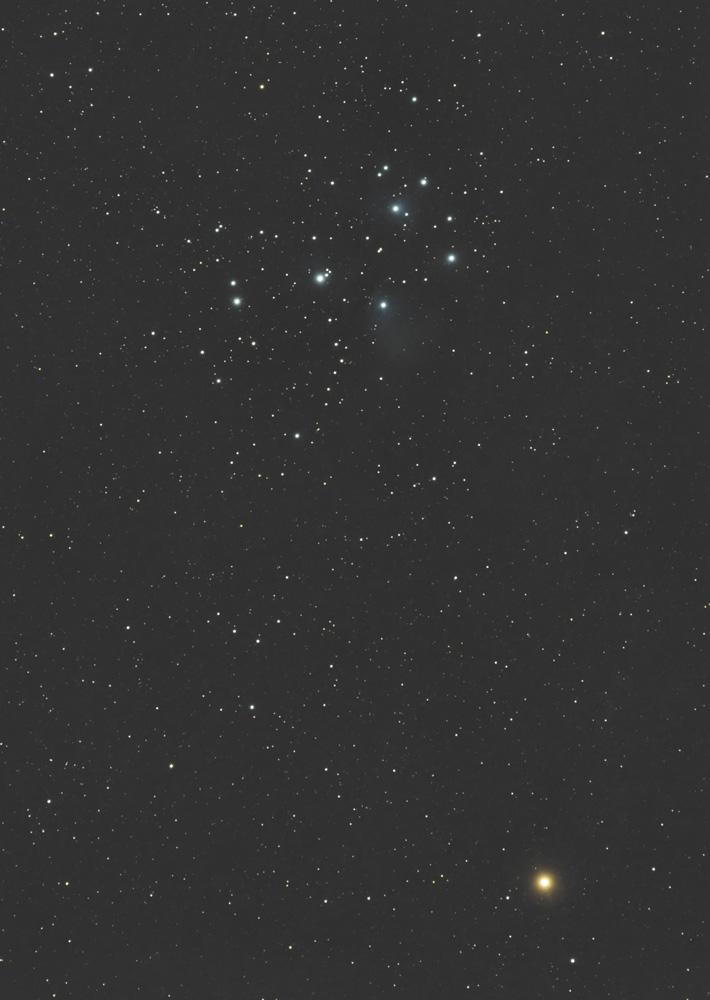 火星とすばる(M45・プレアデス星団 )の接近