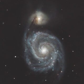 系外銀河 M51(子持ち銀河)
