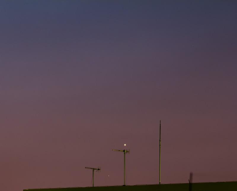 金星と水星の接近