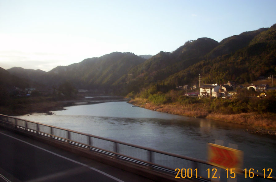 急行「くまがわ」にて 球磨川沿い