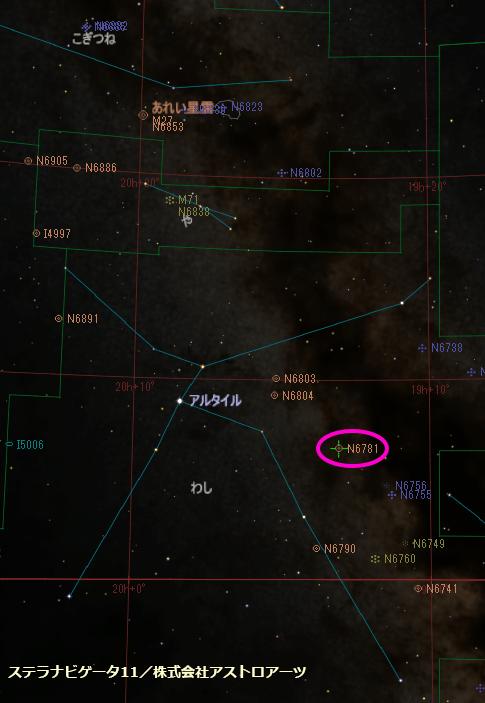 NGC6781の位置