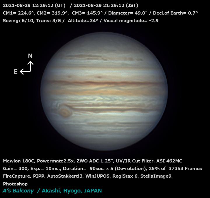 木星 2021/8/29 21:29 (JST)