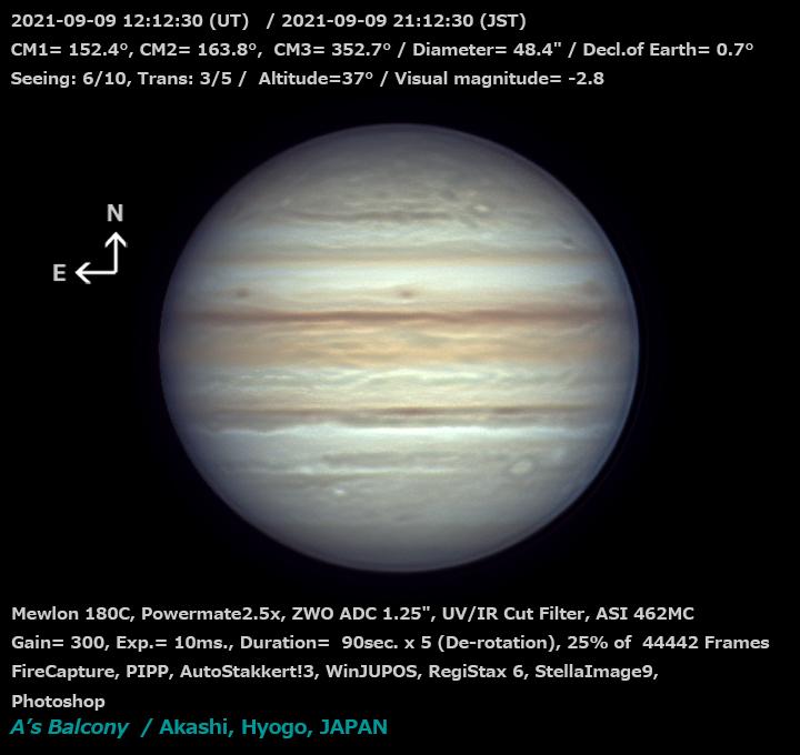 木星 2021/9/9 21:12 (JST)